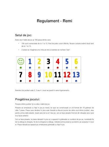 Regulament Remi